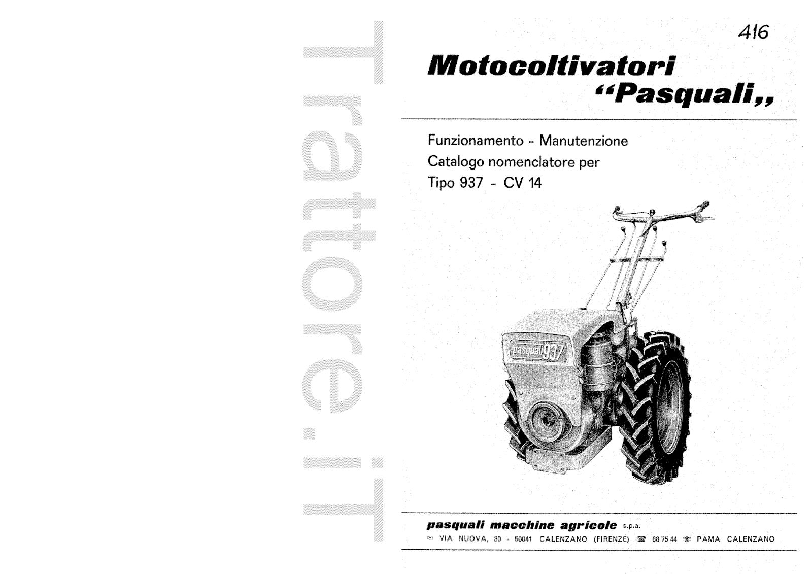 InfoTrattore.it: Motocoltivatore Pasquali 937 CV 14