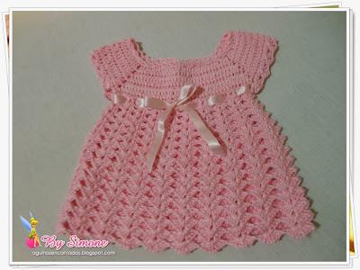 vestido Luísa, vestido crochê bebê