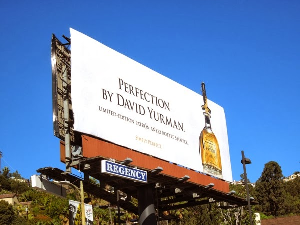 Perfection David Yurman Patron Tequila billboard