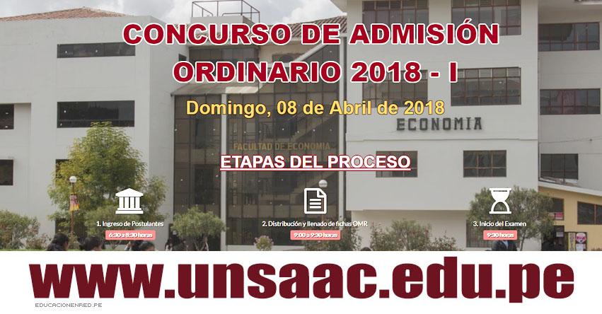 Resultados UNSAAC 2018-1 (08 Abril) Ingresantes Modalidad Examen Admisión Ordinario - Universidad Nacional de San Antonio Abad del Cusco - www.unsaac.edu.pe