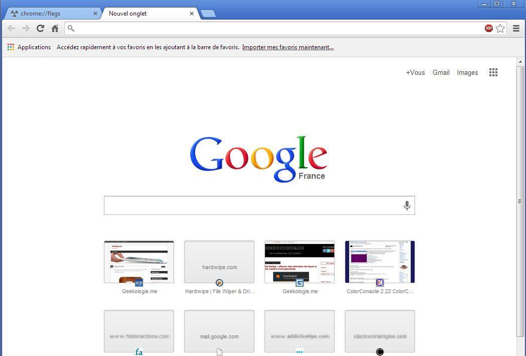 Google chrome 45
