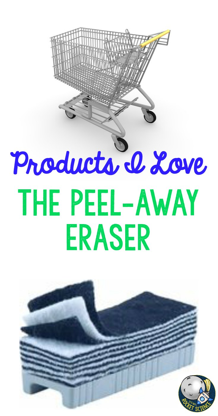 As a teacher, we are all always looking for great products to use in our classroom, on a budget.  This product - the Peel-Away Eraser - is one of my absolute favorites.  Read more about it by clicking to the blog post!  - It's Not Rocket Science