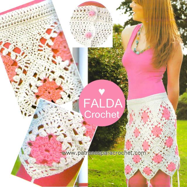 Patrones de falda de grannys crochet