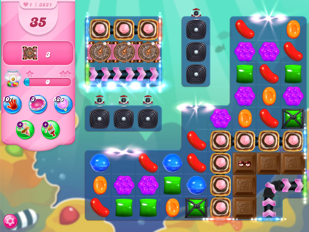 Candy Crush Saga level 3821