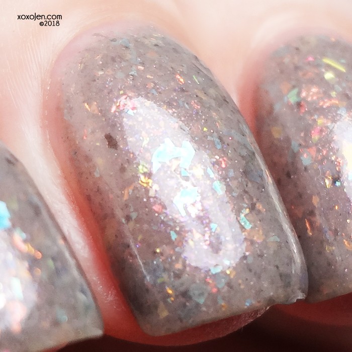 xoxoJen's swatch of Night Owl Lacquer Shmebulock!
