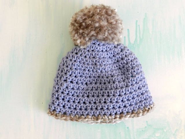 Purple Crochet Pom Hat for girls: grow creative blog