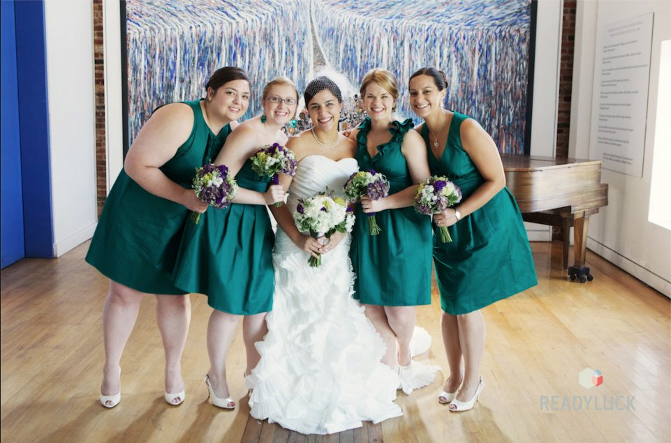 Independent Designer: Real Wedding: Emerald Green