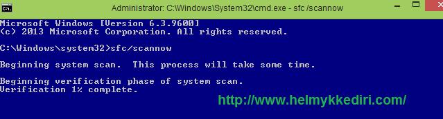 Cara menjalankan System File Checker