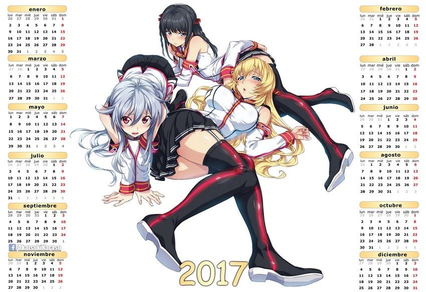 Animé Imágenes By Akatsuki Karasu: Calendarios 2017 Ecchi