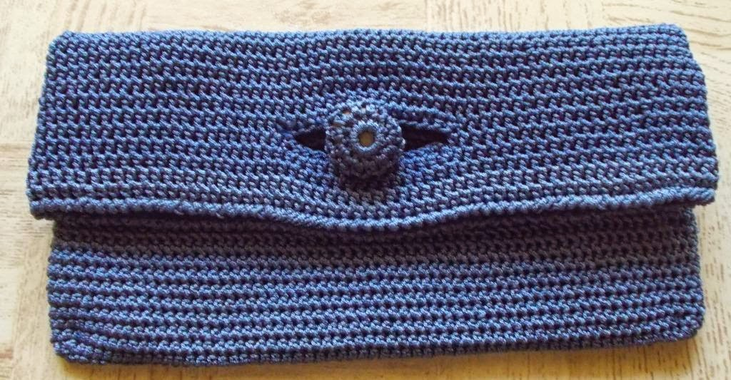 free crochet bag pattern, free crochet clutch bag pattern, free crochet rectangle bag pattern,