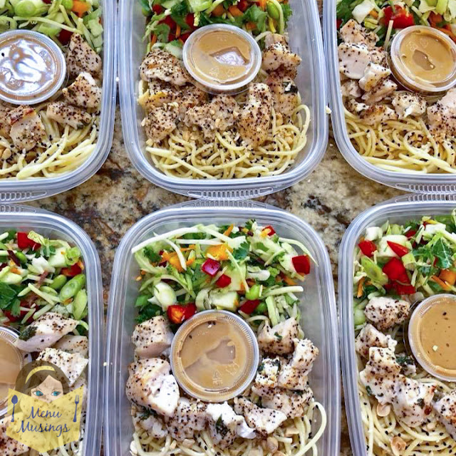 Grab-and-Go Thai Peanut Chicken Noodle Bowls_menu musings.com