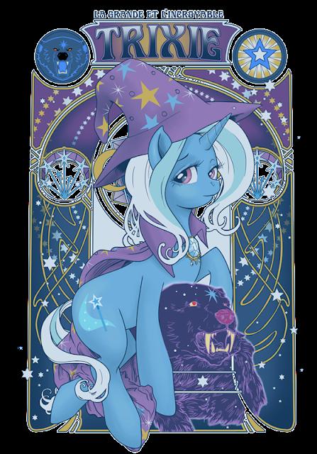 Stellar Four: My Little Ponies Art Nouveau   447 x 640 png 414kB