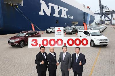 Η Mitsubishi Motors (Thailand) Co., Ltd, γιόρτασε 3.000.000 εξαγωγές σε Παγκόσμιες Αγορές