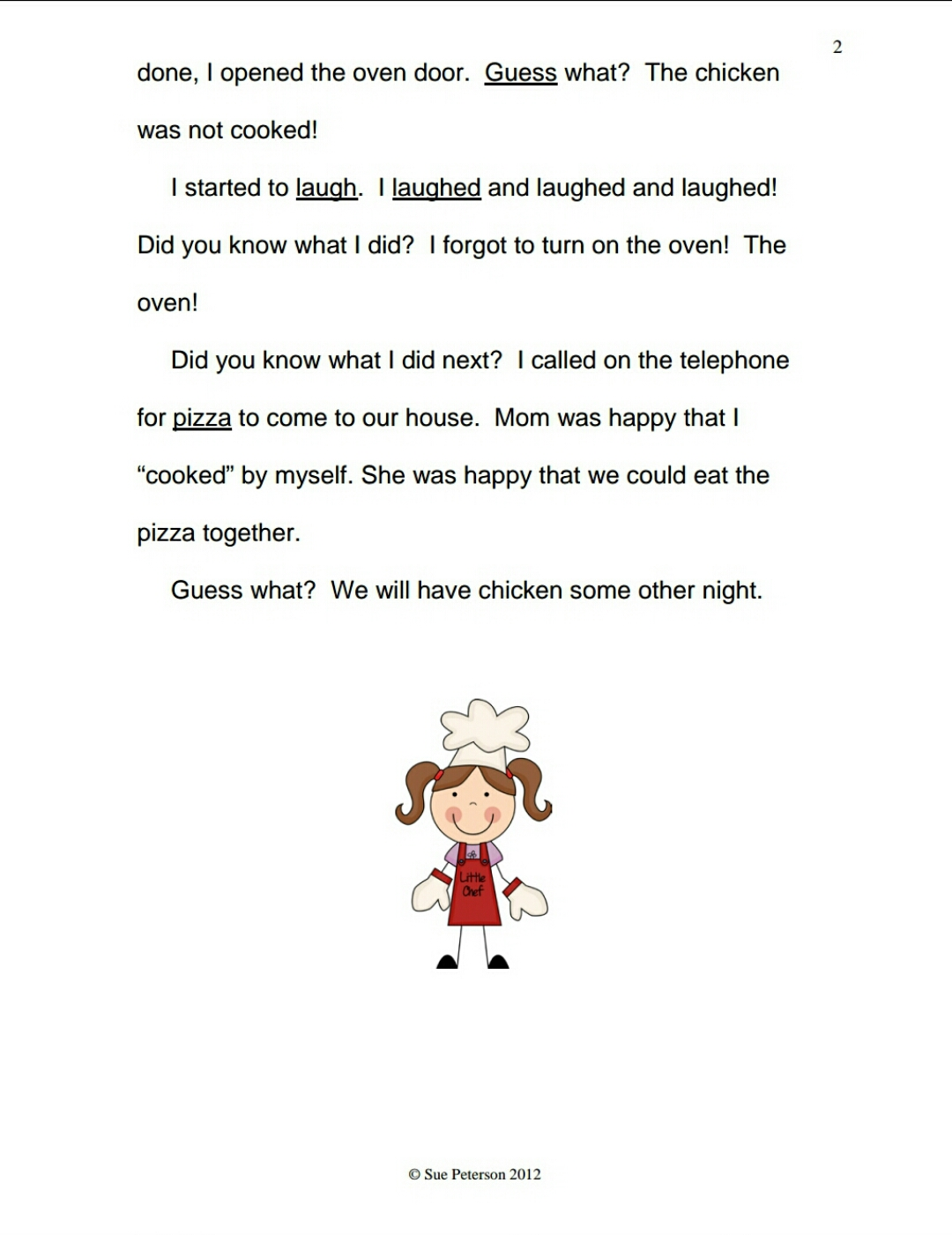 Download First Grade Reading Comprehension Worksheets