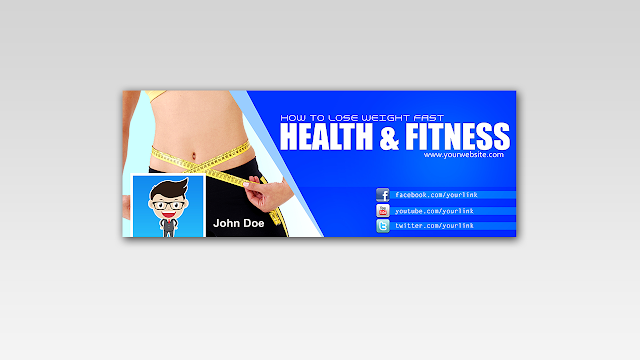 Download FREE PSD Facebook Timeline Cover design for Health and Fitness Free for Personal and Commercial use