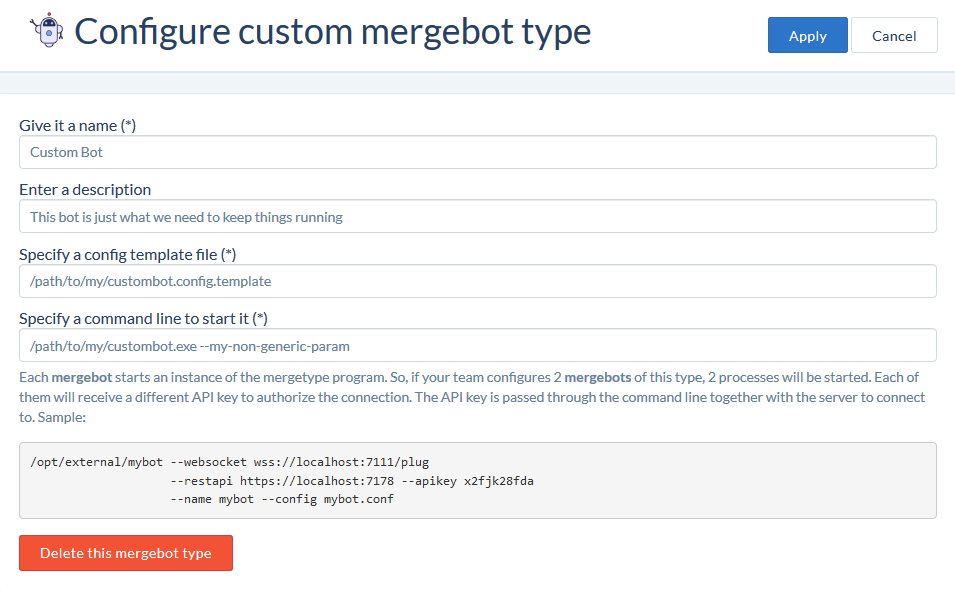 mergebot type configuration