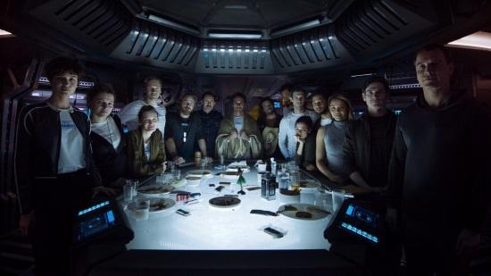 La tripulación de la Covenant