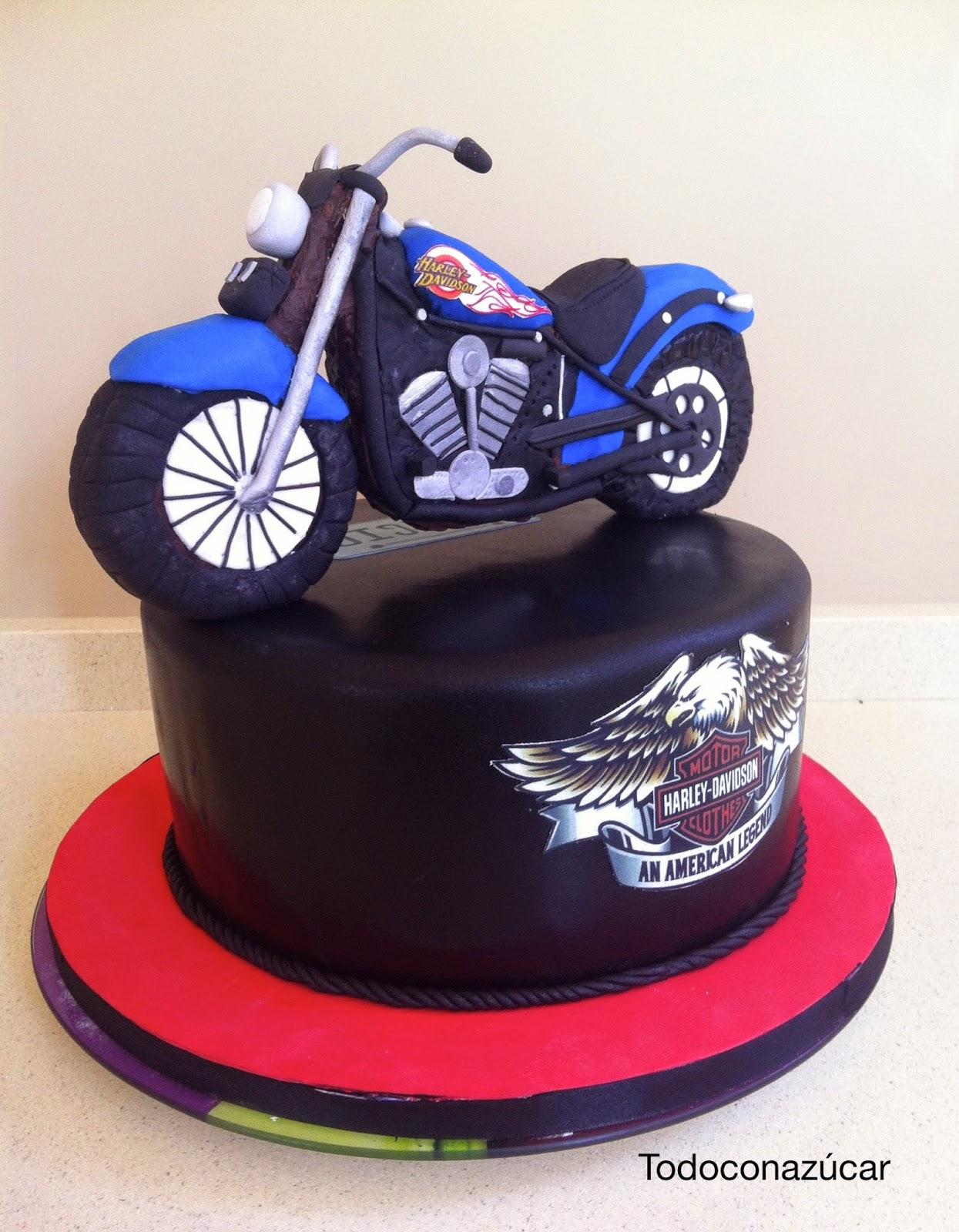 Tarta Moto Harley Davidson Todo Con Az 250 Car