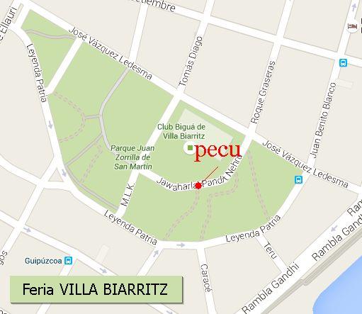 Plano ubicación PECU | Bolsos y Carteras en Feria Villa Biarritz - Ptos. 280/281