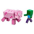 Minecraft Pig With Baby Zombie BigFig Set