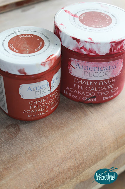 Americana decor deco art chalky finish paint makeover cameo and rouge