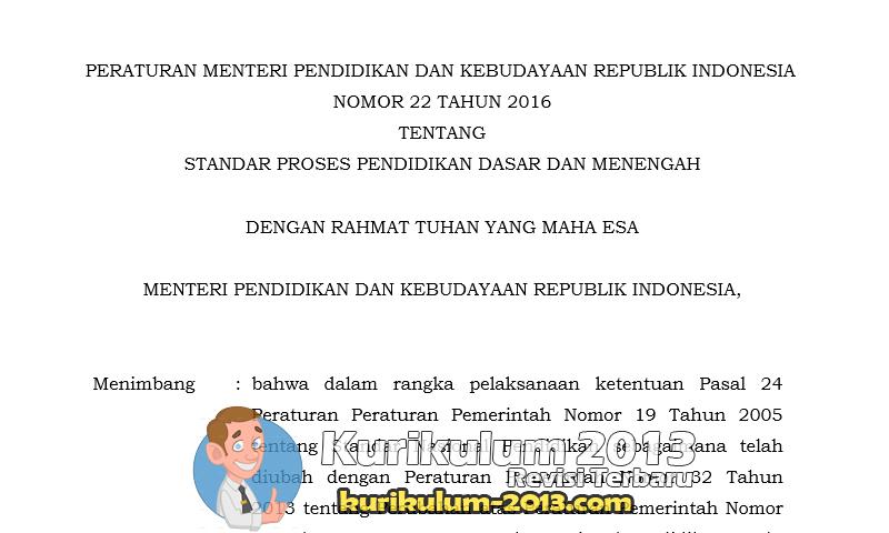 RPP Kurikulum 2013 Revisi Tahun 2016 Format Baru Dari Permendikbud No 22 Tahun 2016 - RPP Kurikulum 2013 Revisi 2016