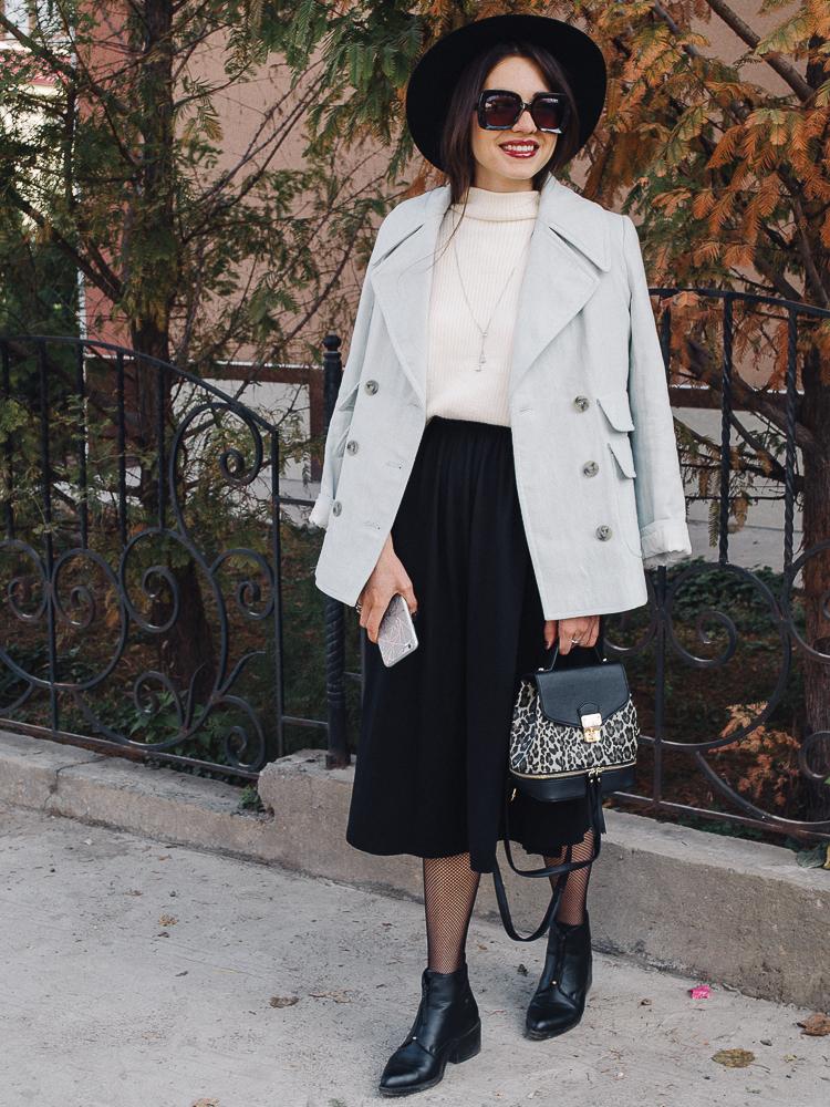fashion blogger diyorasnotes autumn shein jumper midi skirt hat 2 2 - HOW I WEAR FISHNET TIGHTS