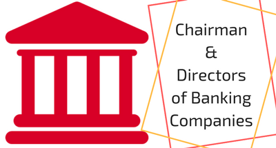Chairman and Directors of Banking Companies