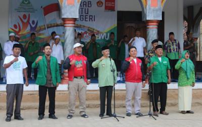 Kirab Satu Negeri: Bupati Pringsewu Pimpin Mars Ya Lal Wathon