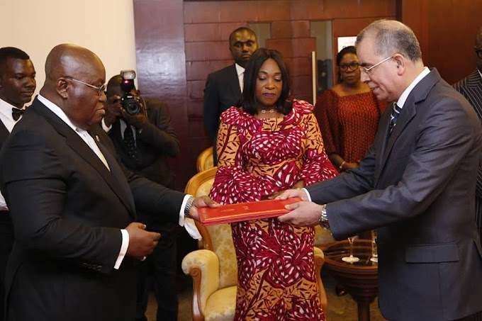 President Akufo Addo Accepts Credentials of Four New Ambassadors