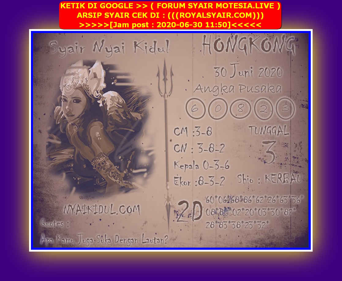 Kode syair Hongkong Selasa 30 Juni 2020 259