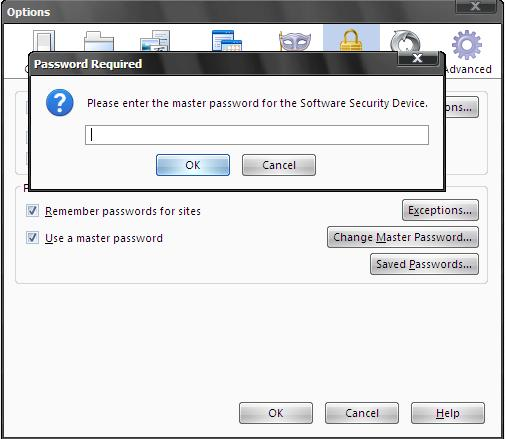 How To Set A Master Password In Firefox part 6?