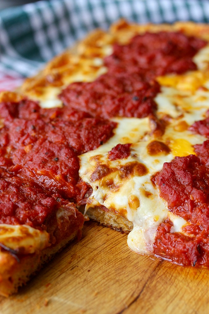 Detroit-Style Pepperoni Pizza
