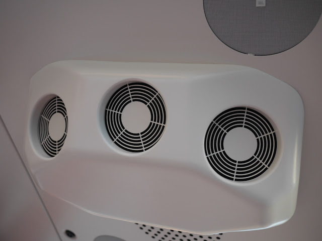 air conditioning unit inside a SkyCab car