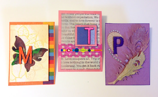 monogrammed artist trading cards by lisa fulmer