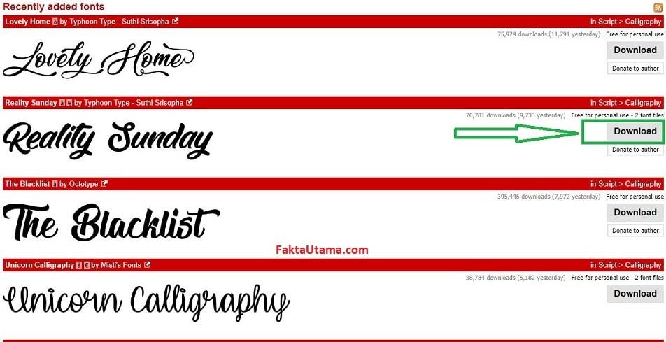 gambar atau aplikasi office untuk keperluan mengetik tetapi membutuhkan font yang unik Cara Menambah dan Instal Font untuk PC Desktop / Laptop - Banyak Pilihan