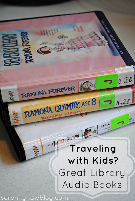 A List of Great Kids' Audio Books for Road Trips, at Serenity Now