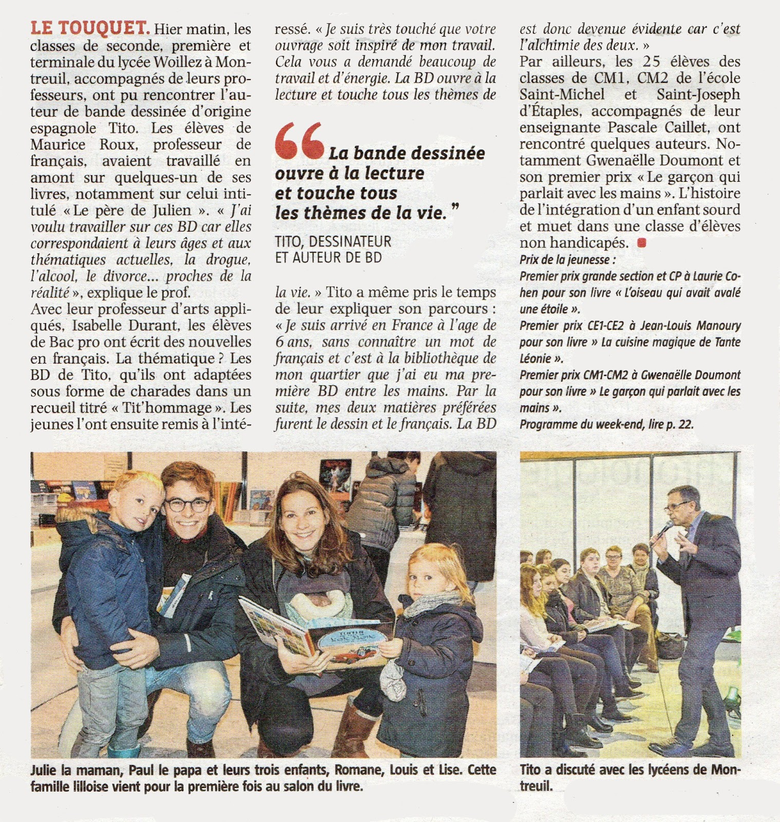 Les bd de tito salon du livre du touquet paris plage 2016 - Le salon du livre paris ...