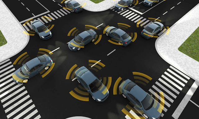 GPS will be the main feature that is used for vehicle communication in order to negotiate road space.