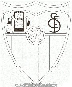 Emblem of FC Sevilla Coloring