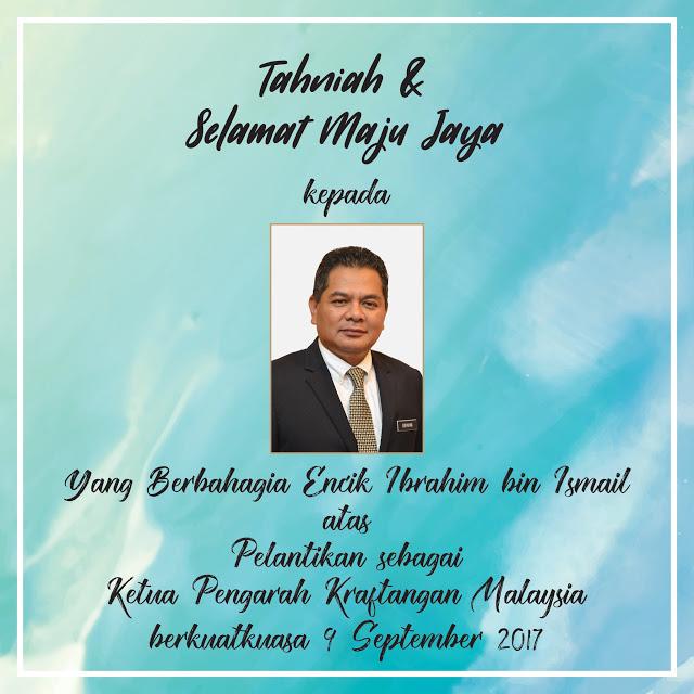 Kraftangan Malaysia Cawangan Pahang Tahniah Yang Berbahagia Encik Ibrahim Bin Ismail