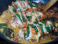 The Best Hasselback Chicken Stuffed with Mozzarella and Spinach