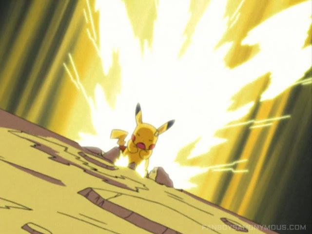 Injured Pikachu electricity overpowered anime pictures