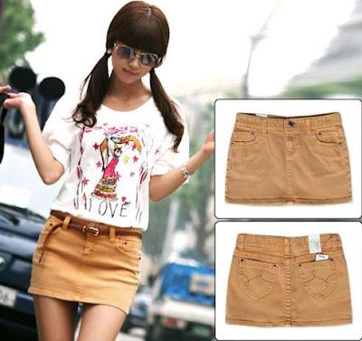 Foto de minifalda jean para mujer joven