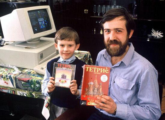 Alexey Pajitnov and son