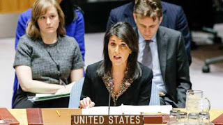امريكا تستخدم حق الفيتو بشأن قرار عربى حول القدس