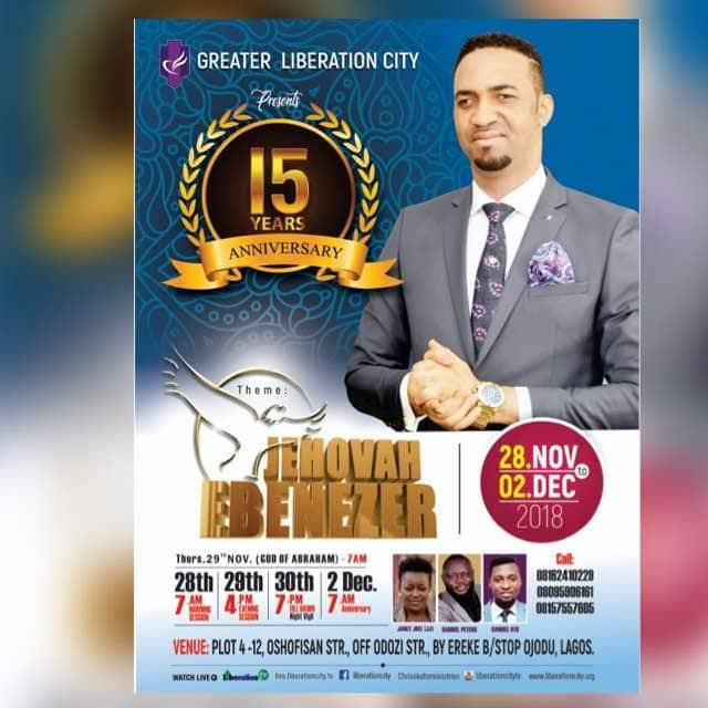 Celebration Galore As Prophet Dr. Chris Okafor's Greater Liberation City Clocks 15