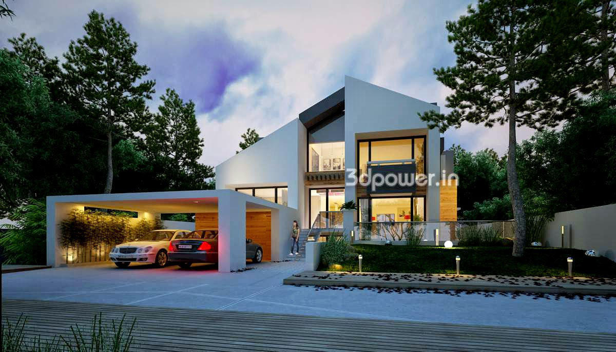 3d rendering house bergen norway