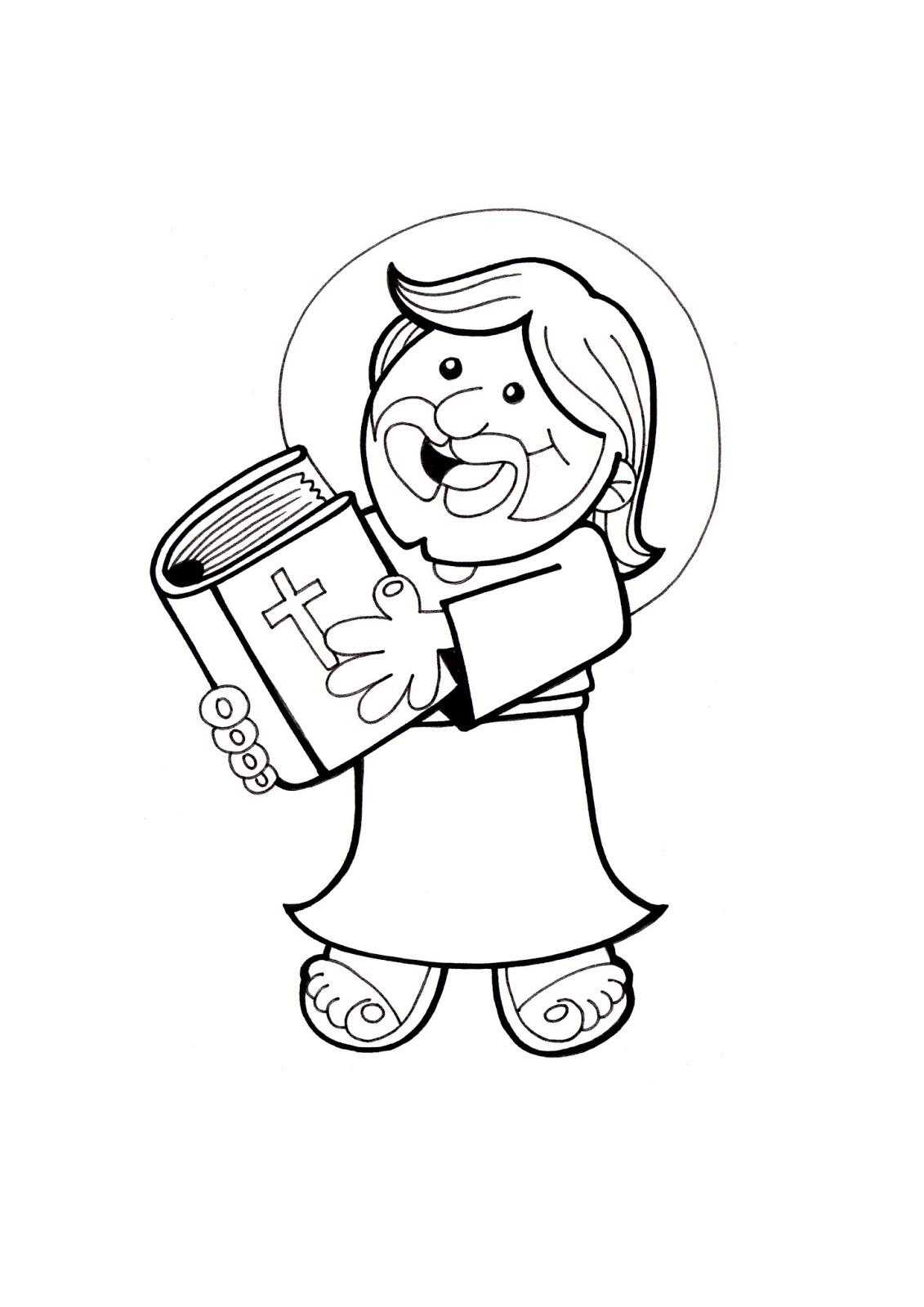 El Rincn de las Melli DIBUJO Jess y la Biblia para los ms