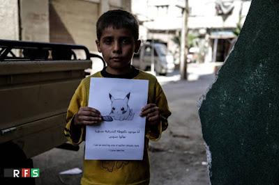 pokemon go contra la guerra imagen de #prayforsyria niños sirios y pokemon